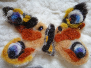 felted peacock butterfly